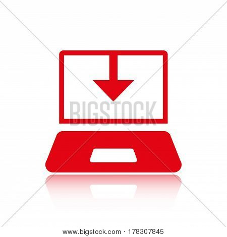 laptop icon stock vector illustration stock vector illustration flat design