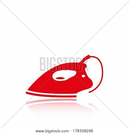 electric iron icon stock vector illustration flat design
