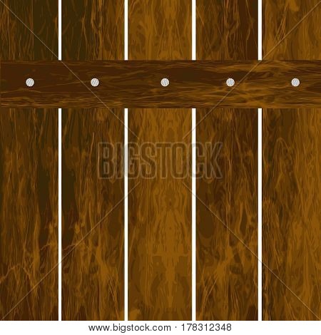 Wooden old fence on a white background