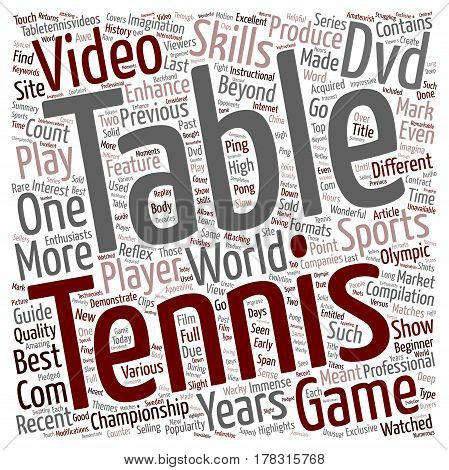 Go Get That Table Tennis DVD text background wordcloud concept