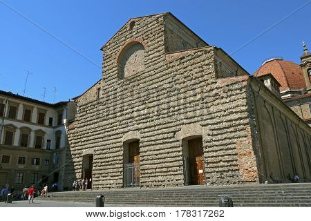 FLORENCE, ITALY - April 21, 2013: San Lorenzo Church in Florence, ITALY.