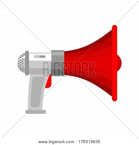 Megaphone Isolated. Loudspeaker.  Shout Against White Background