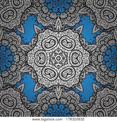 Seamless classic vector blue and white pattern. Traditional orient ornament. Classic vintage background.