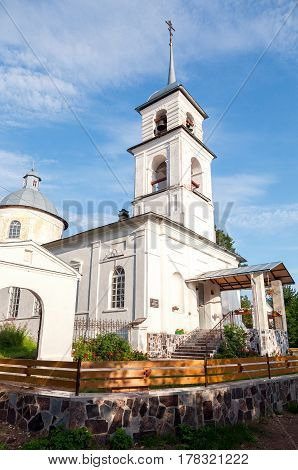 Church of the Tikhvin Icon of the Mother of God in village Lubony Novgorod region Russia