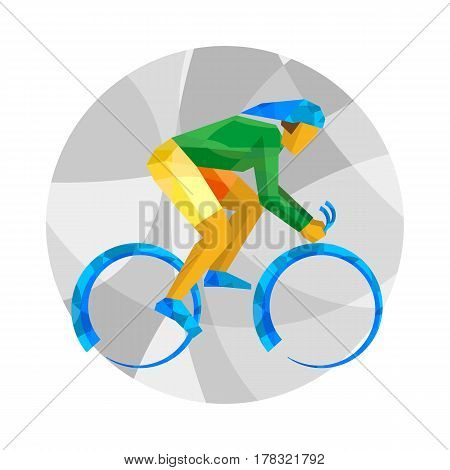Track Cycling With Abstract Patterns