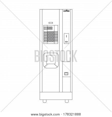 Coffee machine illustration on the white background. Vector illustration