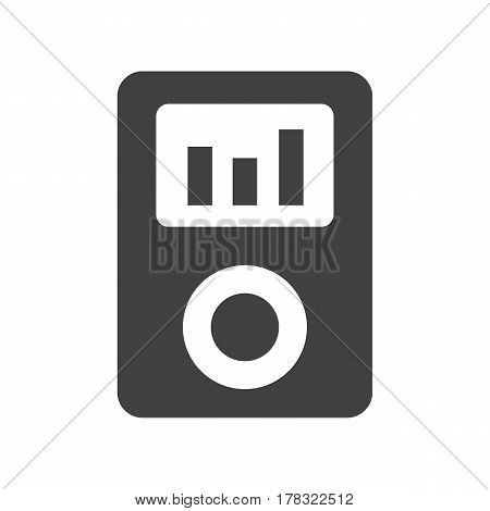 music player on the white background. Vector illustration