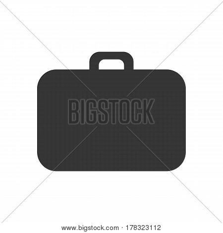 Luggage vector silhouette on the white background. Suitcase silhouette. Vector illustration