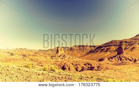 View on Landscape of Jbel Saghro mountain in Morocco