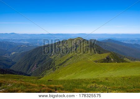 Magical Panorama Of Green Mountains