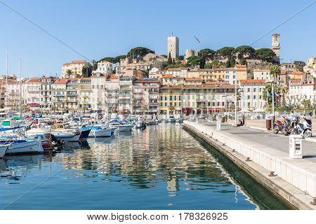 Cannes le Suquet old quarter France