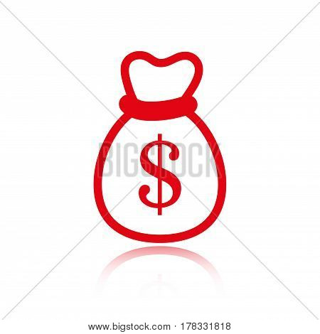 bag of money icon stock vector illustration flat design