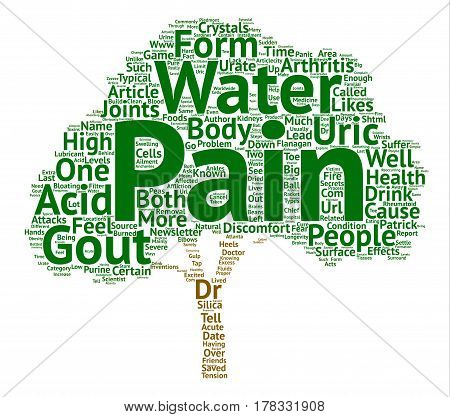 Gout Painful Form of Rheumatoid Arthritis text background word cloud concept