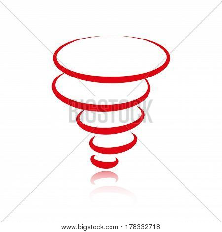 tornado icon stock vector illustration flat design