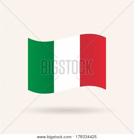 Fag of Italy. Accurate dimensions, proportions and colors. Vector Illustration