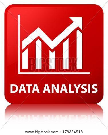Data Analysis (statistics Icon) Red Square Button