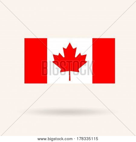 Flag of Canada. Accurate dimensions, proportions and colors. Vector Illustration
