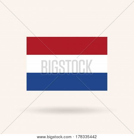 Netherlands flag. Accurate dimensions, proportions and colors. Vector Illustration
