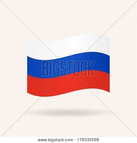 Flag of Russia. Accurate dimensions, proportions and colors. Vector Illustration