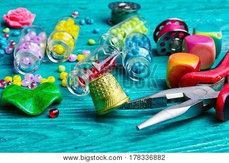 Set Of Beads For Decorations