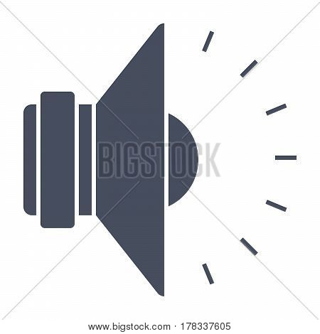 Sound icon, black vector silhouette on white background