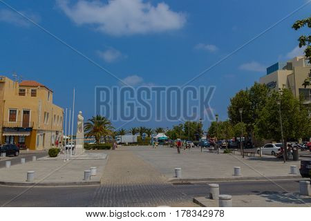 Rethymno, Greece - August  5, 2016:  Square Of The Unknown Soldier.