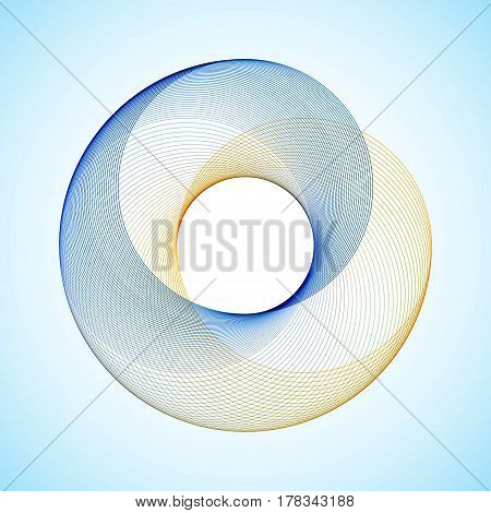 Abstract background with color circle Vector illustration