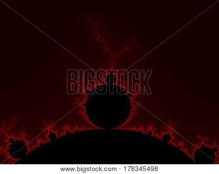 Red Fractal Background