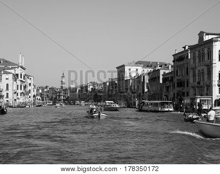 Canal Grande In Venice In Black And White