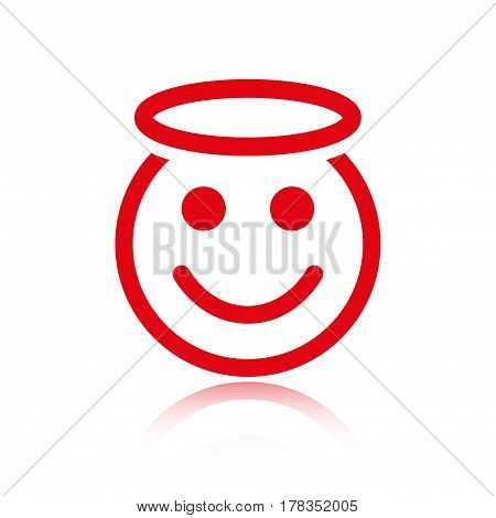 angel smile icon stock vector illustration flat design