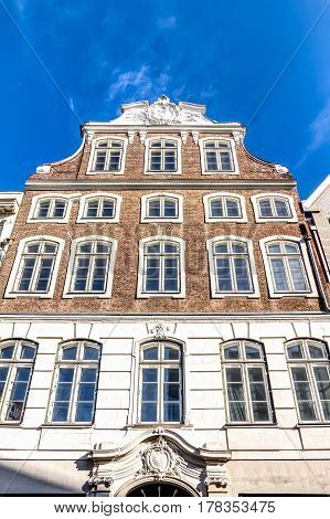 Brick building in the old town of the Hanseatic City of Lubeck