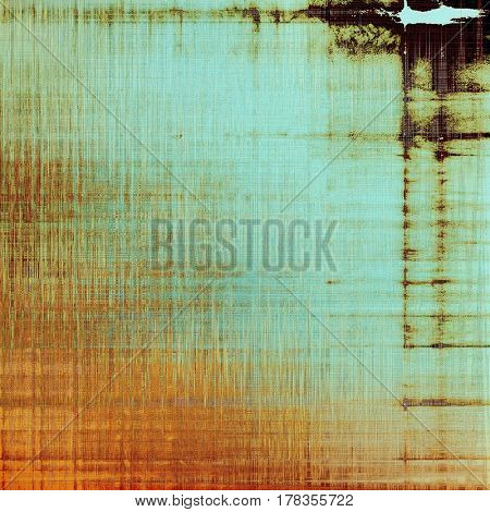 Old school background or texture with vintage style grunge elements and different color patterns: yellow (beige); brown; blue; red (orange); cyan
