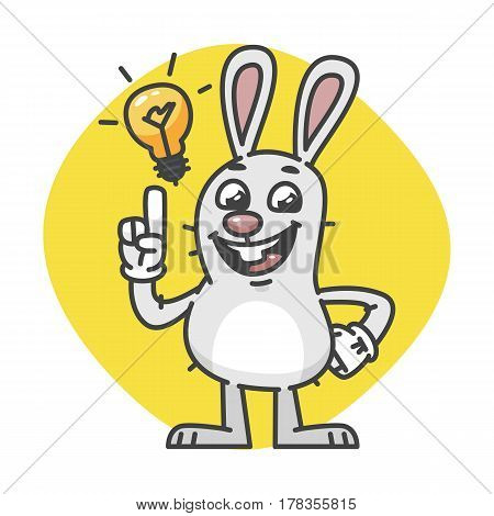 Bunny Laughs And Came Up Idea