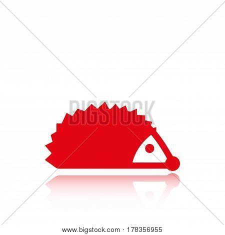 hedgehog icon stock vector illustration flat design