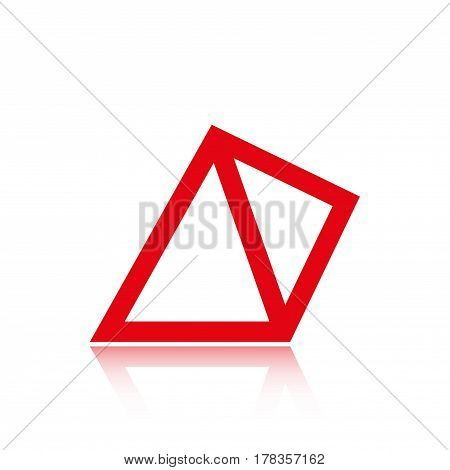 pyramid icon stock vector illustration flat design