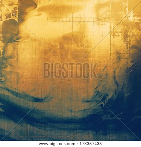 Retro abstract background, vintage grunge texture with different color patterns: yellow (beige); brown; blue; gray