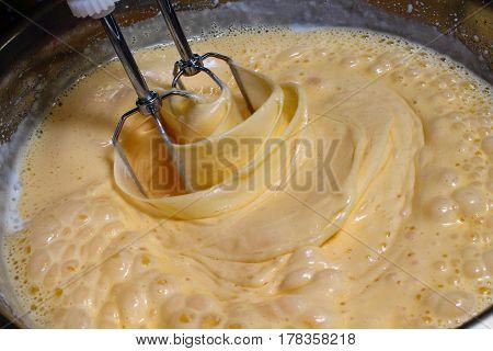 Cake batter - sweet cream - pastries making