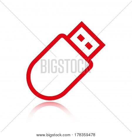 usb icon stock vector illustration flat design