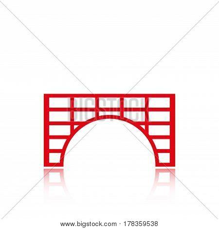 tunnel icon stock vector illustration flat design