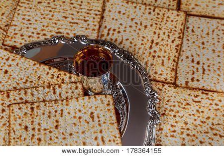 Jewish Holiday Symbol Matzot With Silver