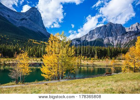 Natural Park near the town of Canmore, Canada.  The