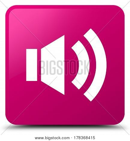 Volume Icon Pink Square Button