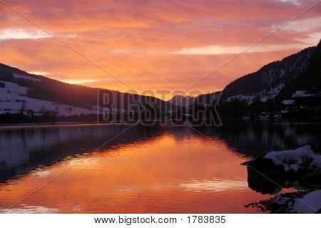 Walchsee Austria Sunset