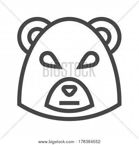 Bear Market Thin Line Vector Icon. Flat icon isolated on the white background. Editable EPS file. Vector illustration.
