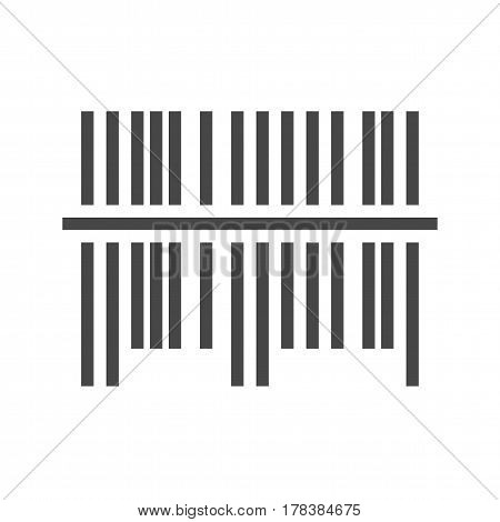 Bar Code Thin Line Vector Icon. Flat icon isolated on the white background. Editable EPS file. Vector illustration.