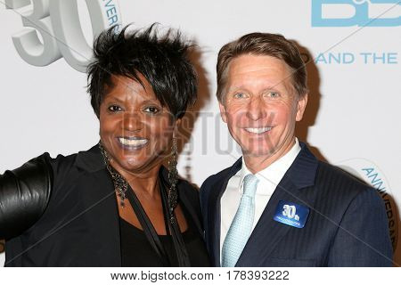 LOS ANGELES - MAR 23:  Anna Maria Horsford, Bradley Bell at the celebration of 30 Years of Bold and Beautiful and their 23 Emmy nominations at CBS on March 23, 2017 in Los Angeles, CA