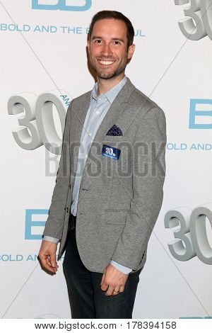 LOS ANGELES - MAR 23:  Mark Pinciotti at the On Set celebration of 30 Years of Bold and Beautiful and their 23 Daytime Emmy nominations at CBS Televsision City on March 23, 2017 in Los Angeles, CA