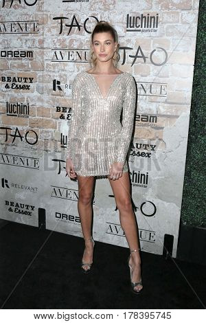 LOS ANGELES - MAR 16:  Hailey Rhode Baldwin at the TAO, Beauty & Essex, Avenue and Luchini Grand Opening at the Selma Avennue on March 16, 2017 in Los Angeles, CA