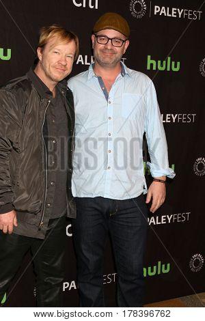 LOS ANGELES - MAR 23:  John Fawcett, Graeme Manson at the 34th Annual PaleyFest Los Angeles -