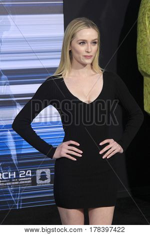 LOS ANGELES - MAR 22:  Greer Grammer at the Lionsgate's